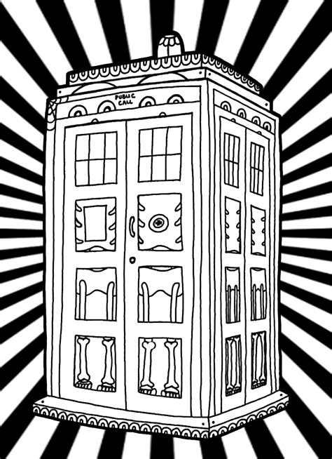 Dr Who Coloring Book Printable