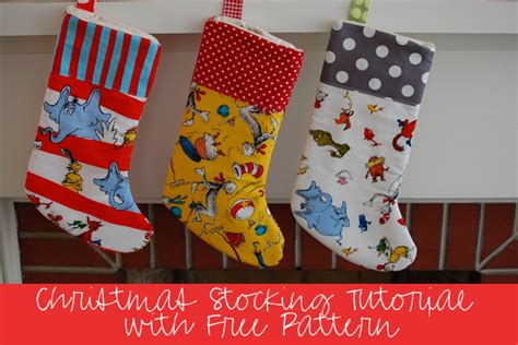 free pattern for lined christmas stocking 15 diy winter holiday sewing projects weallsew