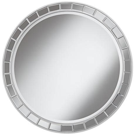 round silver bevelled mirror kesha antique silver beveled 36 quot wall mirror 2n043 lsplus