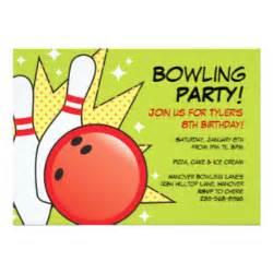 ten pin bowling cards invitations zazzle co uk