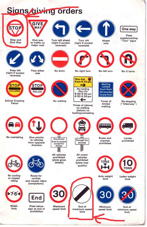 printable french road signs highway code