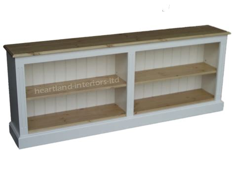 low white bookcase 6ft wide painted adjustable shelving