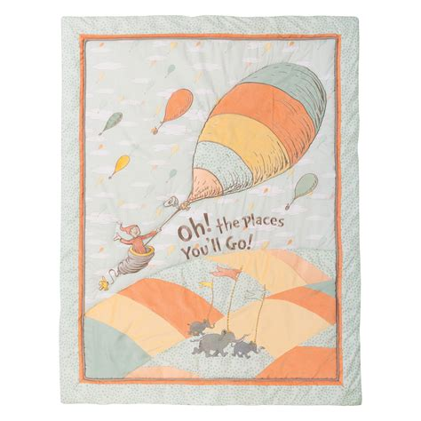 Dr Seuss By Trend Lab Introduces Gender Neutral Oh The Oh The Places You Ll Go Crib Bedding