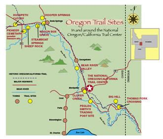map of the oregon trail with landmarks national oregon california trail center gt gt local trail