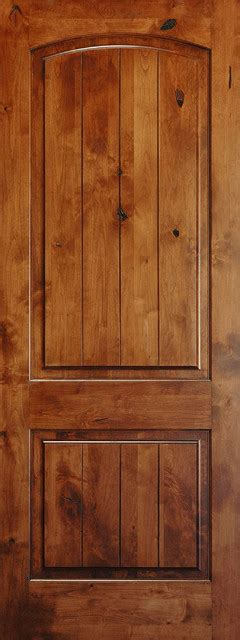 Two Panel Solid Wood Interior Doors by Mediterranean Doors Solid Wood Knotty Alder Arch 2 Panel