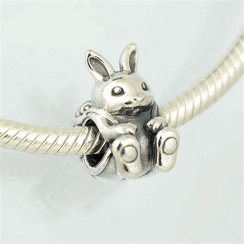genuine pandora silver bunny rabbit charm 791121 ebay