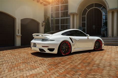 white porsche red white porsche turbo s adv7 track spec cs concave wheels