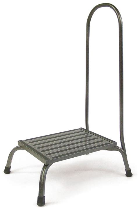 bariatric step stool with two handrails bariatric step stool w rail 1000 lb capacity