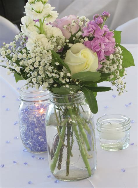 jar centerpieces jar table centerpieces lake conroe wedding onewed