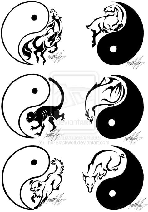 chinese zodiac tattoos 2 by the blackwolf on deviantart