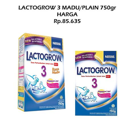 lactogrow 3 750gr plain madu shopee indonesia
