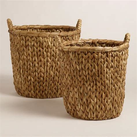 Pillows Ikea Natural Sweater Weave Abbie Baskets World Market
