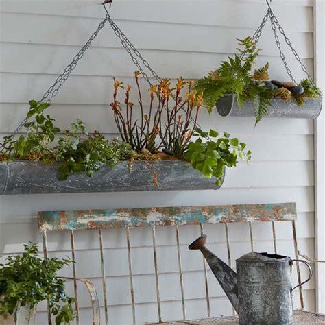 Hanging Trough Planters hanging trough planters set 3 63 131798