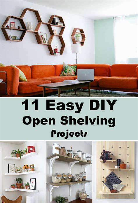 diy projects easy 11 easy diy open shelving projects for any room