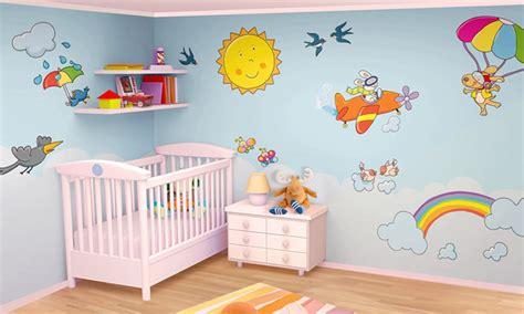 Stickers Muro Bambini by Stickers Murali Bambini Cameretta Nel Dipinto Di