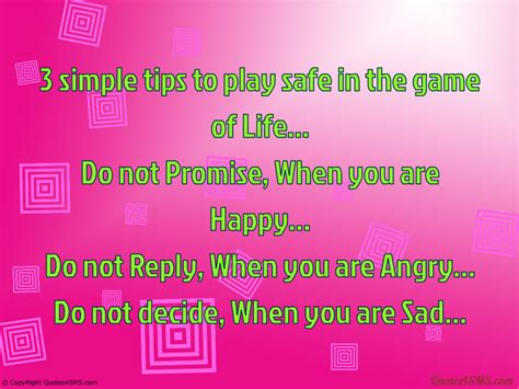 simple tips  play safe   game  life life