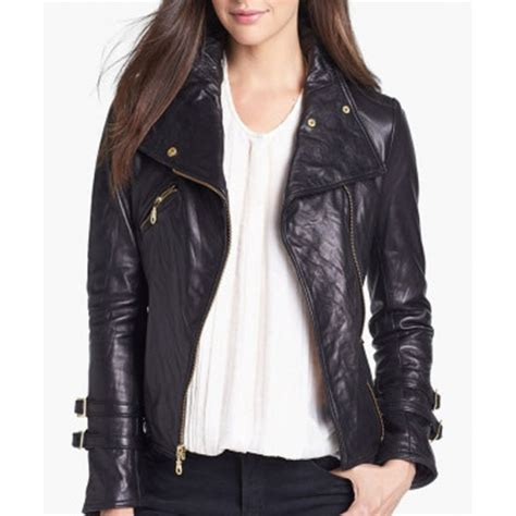 moto biker jacket womens black leather moto jacket biker jacket on