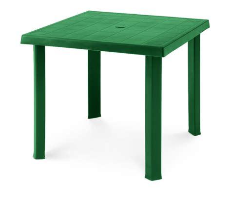 tavolo verde tavolo in plastica da giardino 80x80 h 72 colore bianco