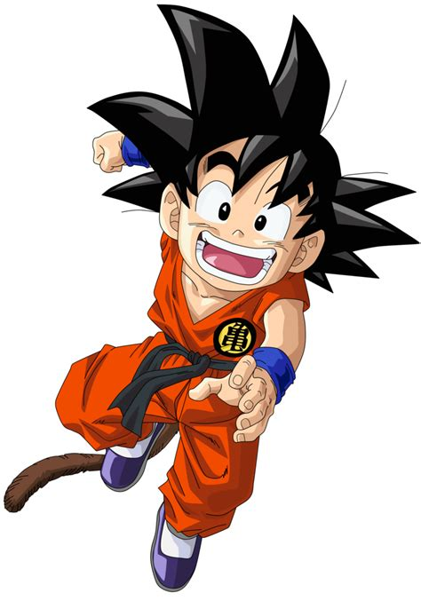 imagenes de goku cuando era niño kid goku vector render extraction png by tattydesigns on