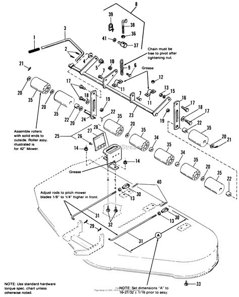 simplicity parts diagram simplicity 1691712 48 quot mower deck parts diagram for 42