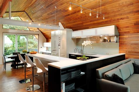 Kitchen Wood Ceiling by Kitchen With Wooden Walls And Ceiling