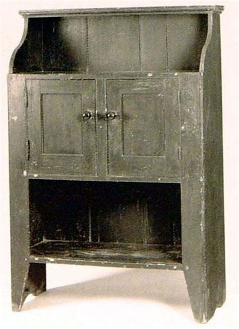 early painted cupboard in original grey paint great primitive furniture