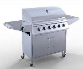 6 burner bbq gas grill stainless steel barbecue 1 side