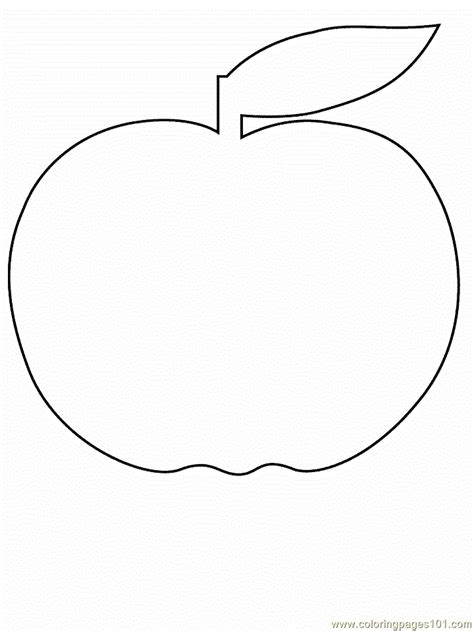 coloring pages apple2 cartoons gt simple shapes free