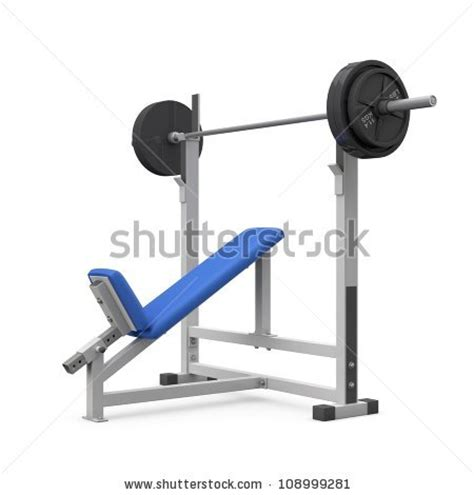 white weight bench weight bench for chest angular isolated on white