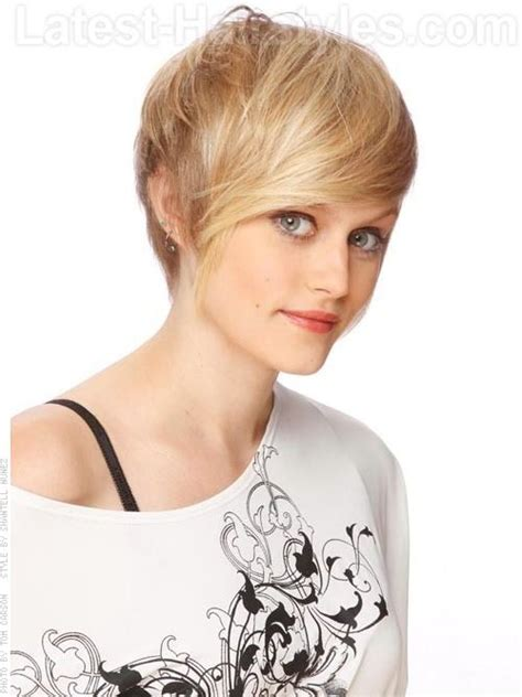most over dine hairstyles windblown beauty love this swept look short hair