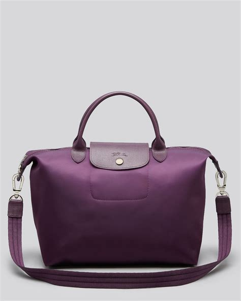 Longch Le Pliage Lucky Medium Handle Msh lyst longch le pliage neo medium tote in purple