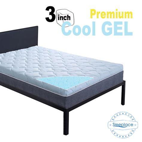 3 Inch Memory Foam Mattress Topper Sleeplace New 3 Inch Premium Cool Gel Memory Foam Mattress Topper Ebay