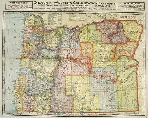 map of western oregon cram oregon and western colonization company map of oregon