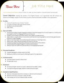 Free Cool Resume Templates by Resume Template Free Cv Microsoft Word Within