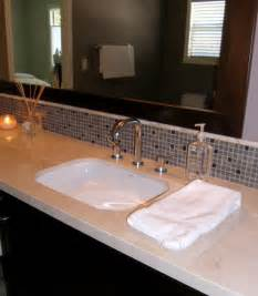 backsplash bathroom glass tile backsplash