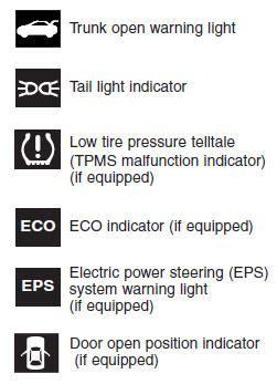 hyundai elantra dashboard warning lights hyundai dash light symbols