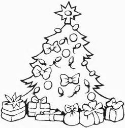 christmas tree coloring pages free printable pictures
