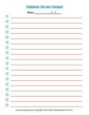 Free Printable To Do List Template Checklists To Help You Organize Free Printable List Template