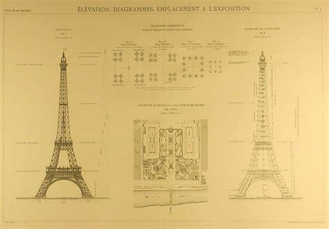 eiffel tower floor plan les plans originaux de la tour eiffel