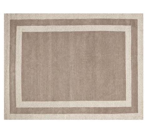 harvey rug harvey tufted border rug gray pottery barn