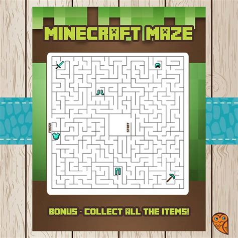 printable minecraft quiz printable minecraft maze game minecraft birthday
