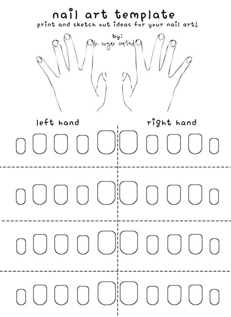 free printable nail art template bsugarcoated