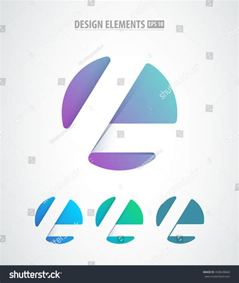 design elements icon vector abstract letter l logo icon stock vector 438628666