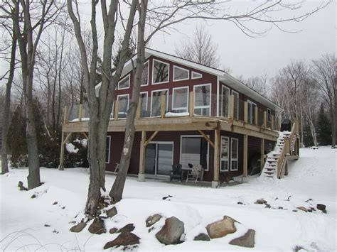 Winter Cottage Rentals Ontario by Miller Lake Ontario Cottage Rental Loon Lodge 187 Front Of