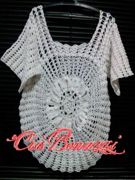 blusa de crochet cris bonazzi elo7