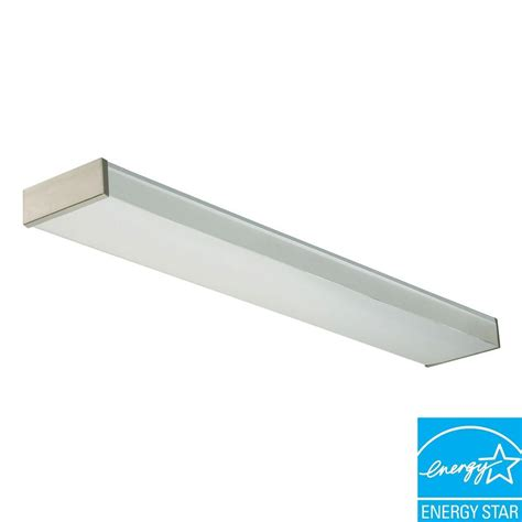 Brushed Nickel Fluorescent Light Fixtures Lithonia Lighting 2 Light Brushed Nickel Fluorescent Decorative Wrap Fixture New 2 32 120 Re Bn