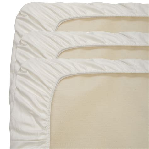 Fitted Crib Sheets by Organic Fitted Crib Sheet 3 Pack By Naturepedic