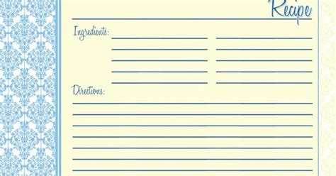 Typeable Recipe Card Template by Recipe Cards Tea Set Of 12 4x6 Heavy Duty