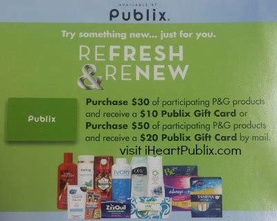 savings at publix colgate palmolive gift card refresh renew rebate - Can You Get Cashback With A Publix Gift Card