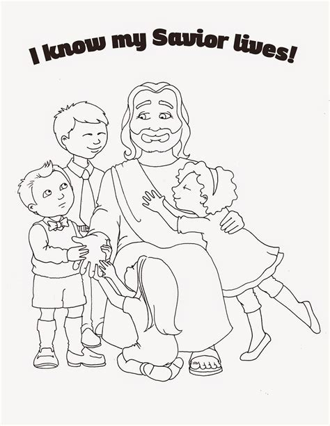 lds coloring pages of the savior susan fitch design primary 2015